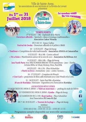 ***JUILLET A SAINTE-ANNE*** En attendant le programme complet, découvrez les temps forts de votre mois de juillet à Sainte-Anne